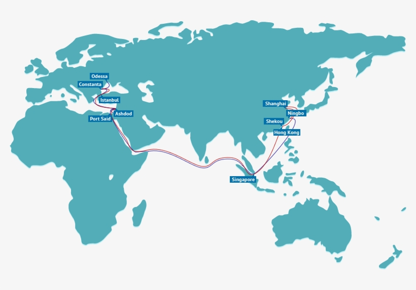 Map Of Asia Europe.G6 Alliance To Vary Coverage On Asia Europe Tradelane High