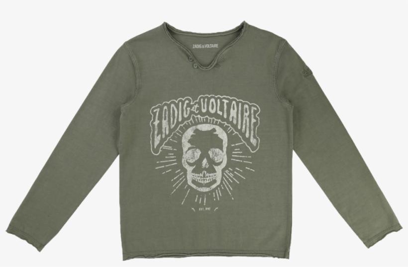 Zadig & Voltaire Kids T-shirt Boxer Skull - Long-sleeved T-shirt, transparent png #8023275