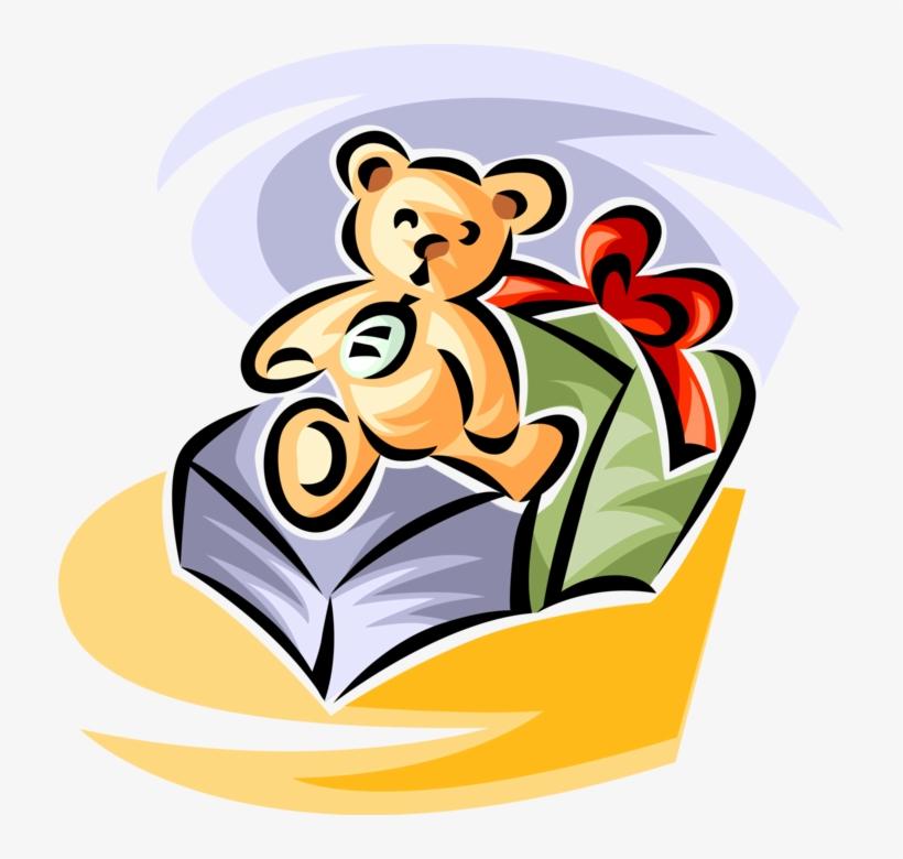 Vector Illustration Of Stuffed Animal Teddy Bear Christmas, transparent png #8027776