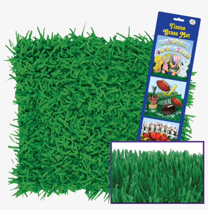 Tissue Grass - Green Grass Mat, transparent png #8027972