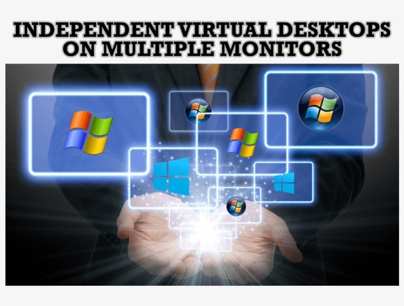 Windows 7 Dual Monitor Taskbar - Windows 10, transparent png #8028514