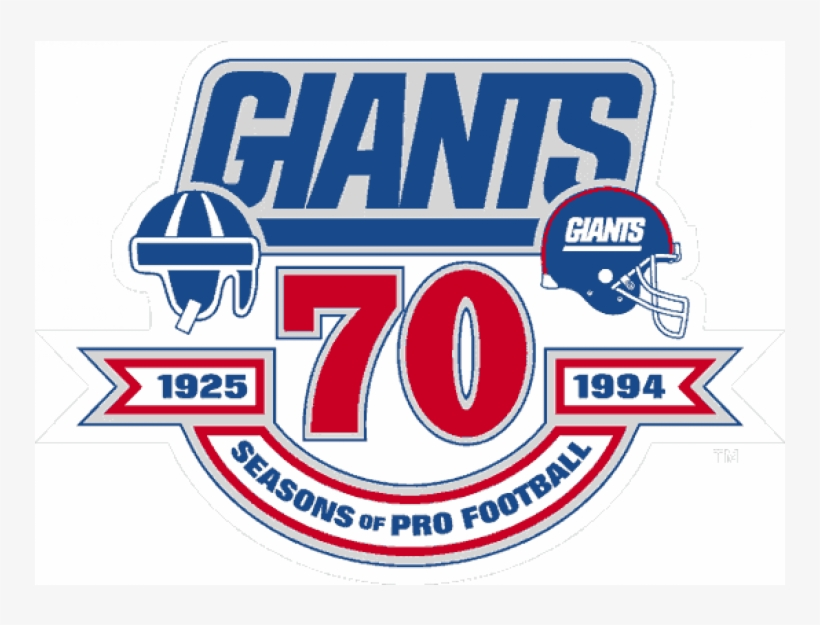 New York Giants Iron On Stickers And Peel-off Decals - Logos And Uniforms Of The New York Giants, transparent png #8035585