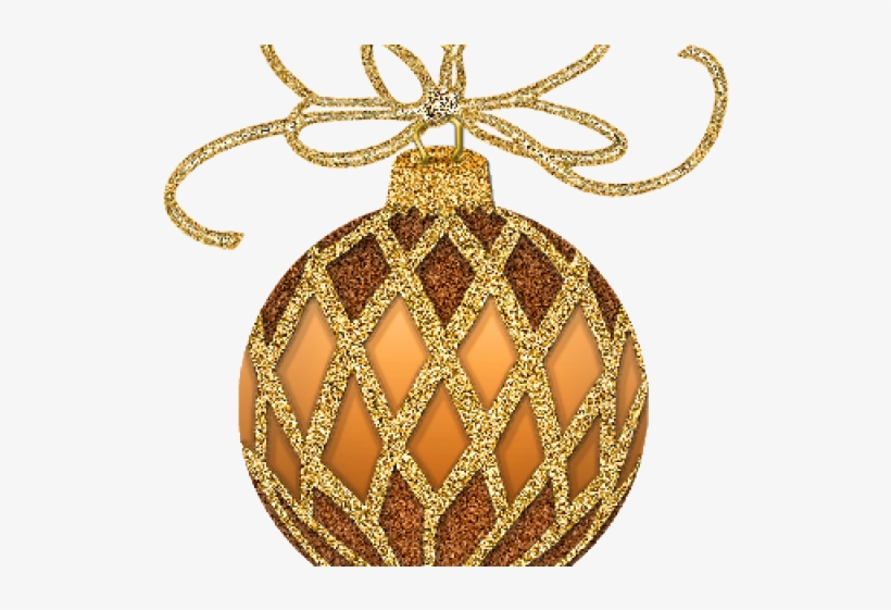 Graphic Free Christmas Ornaments Images Clipart - Gold Christmas Clipart, transparent png #8037329