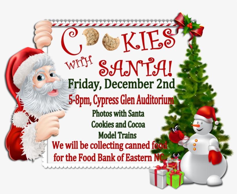 News Image For Cookies With Santa At Cypress Glen - Marcos De Tarjetas De Navidad, transparent png #8039797