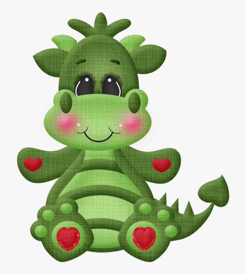 Creature Etrange, Dragon Cakes, Cute Dragons, - Dragon Valentine Clipart, transparent png #8042364
