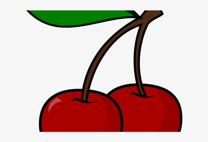 Cherry Clipart Red Cherry - Cherry Pic Clip Art Black And White, transparent png #8043595