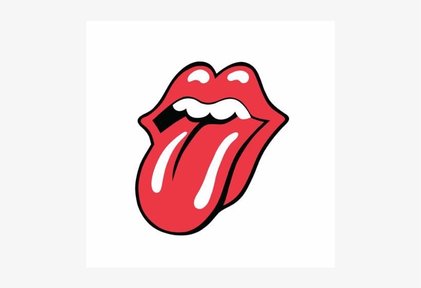 Drawn Tongue Rolling Stones - Rolling Stones Tongue, transparent png #8058397