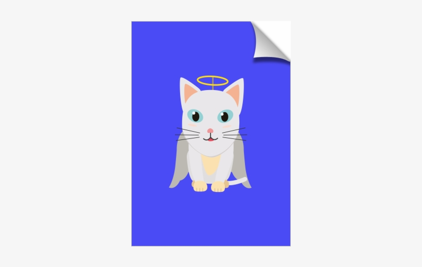Cat Christmas Angel - Domestic Short-haired Cat, transparent png #8059116