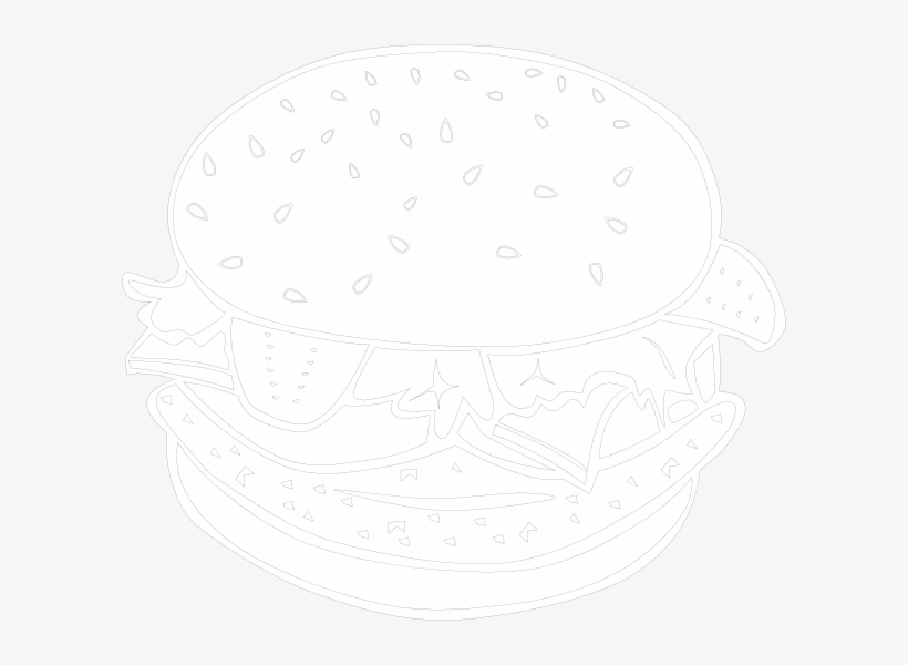 Burger With Crown Clipart - Illustration, transparent png #8061235