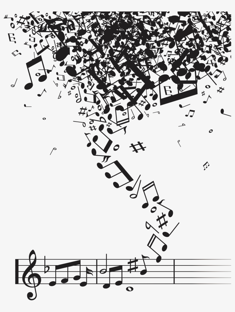 Musical Note Notation Music - Music Notes Vector Free Download Png, transparent png #8068457