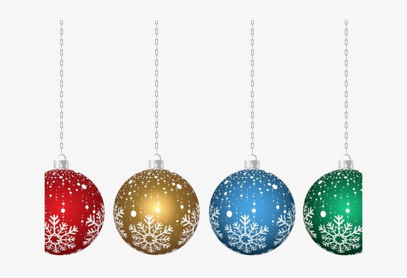 Christmas Ornament Clipart Hanging - Transparent Christmas Ornaments Clip Art, transparent png #8073783