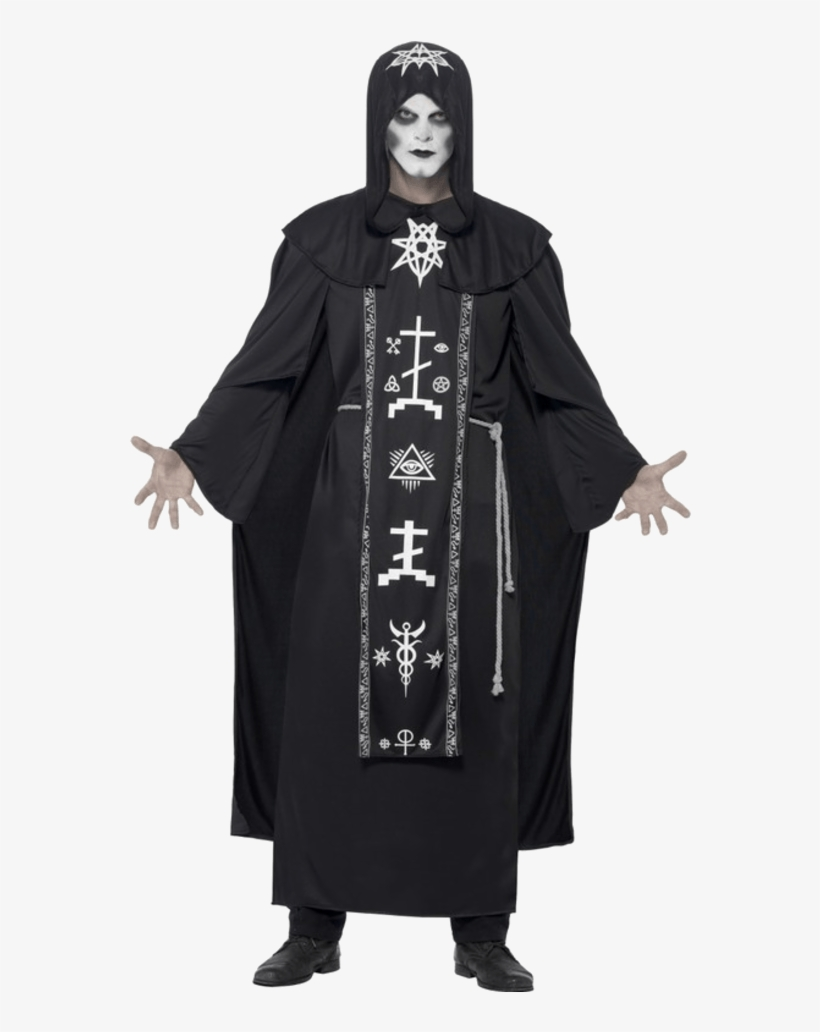 Adult Dark Arts Ritual Halloween Costume - Dark Halloween Costumes, transparent png #8074974
