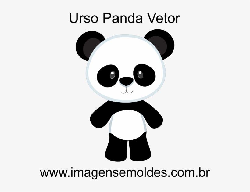 Clique Aqui Para A Aula Completa Como Alterar E Imprimir - Molde De Urso Panda Em Eva, transparent png #8078870