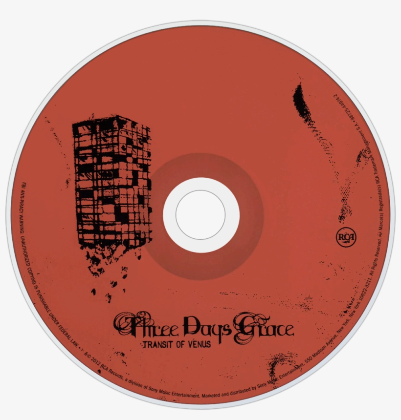 Similarly To The Foo Fighters Wasting Light Disk , - Three Days Grace One X Disc, transparent png #8079075
