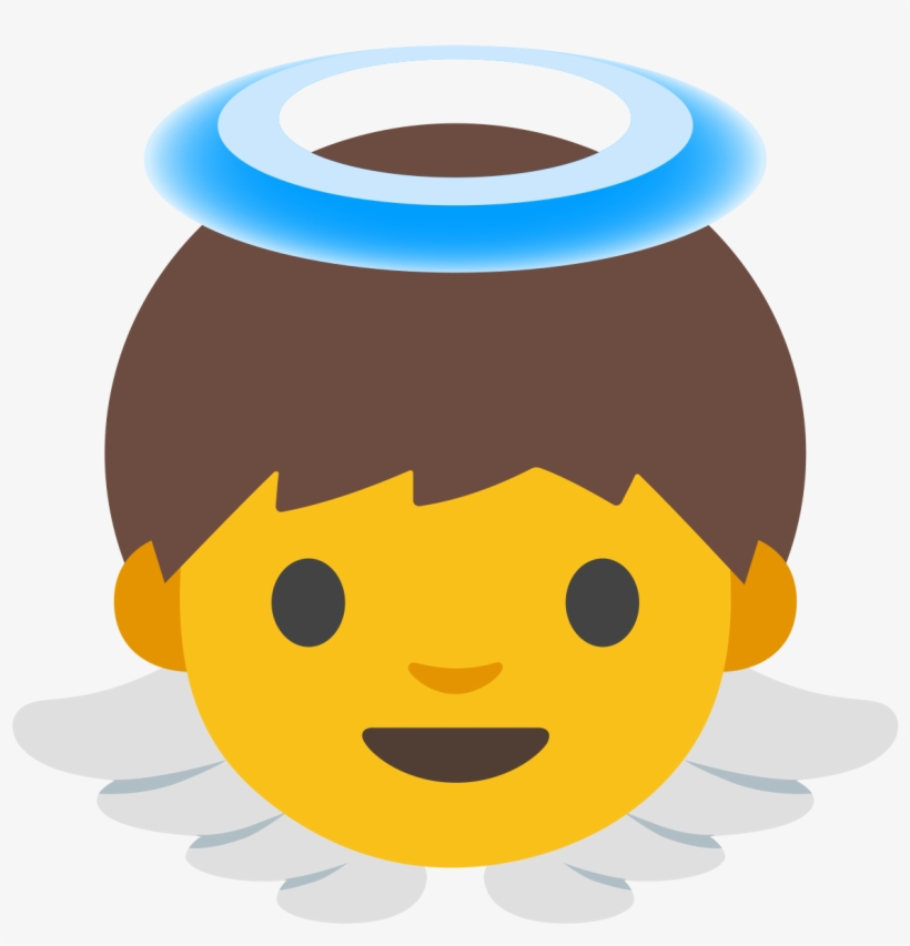 Emoji Baby Angel, transparent png #8084611