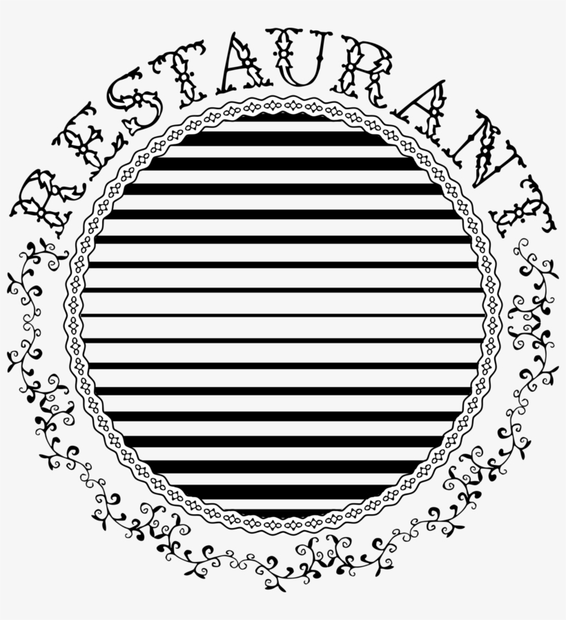 Restaurant Typography - Round Flower Png Border, transparent png #8086688
