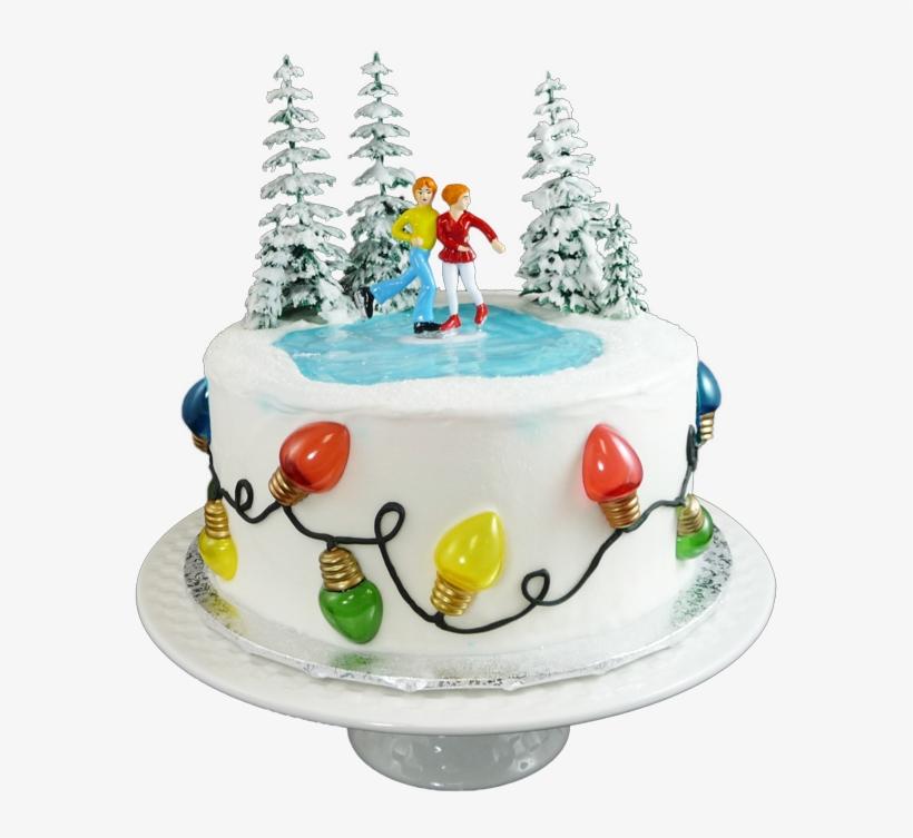 Christmas Lights Cake - Christmas Tree, transparent png #8087831