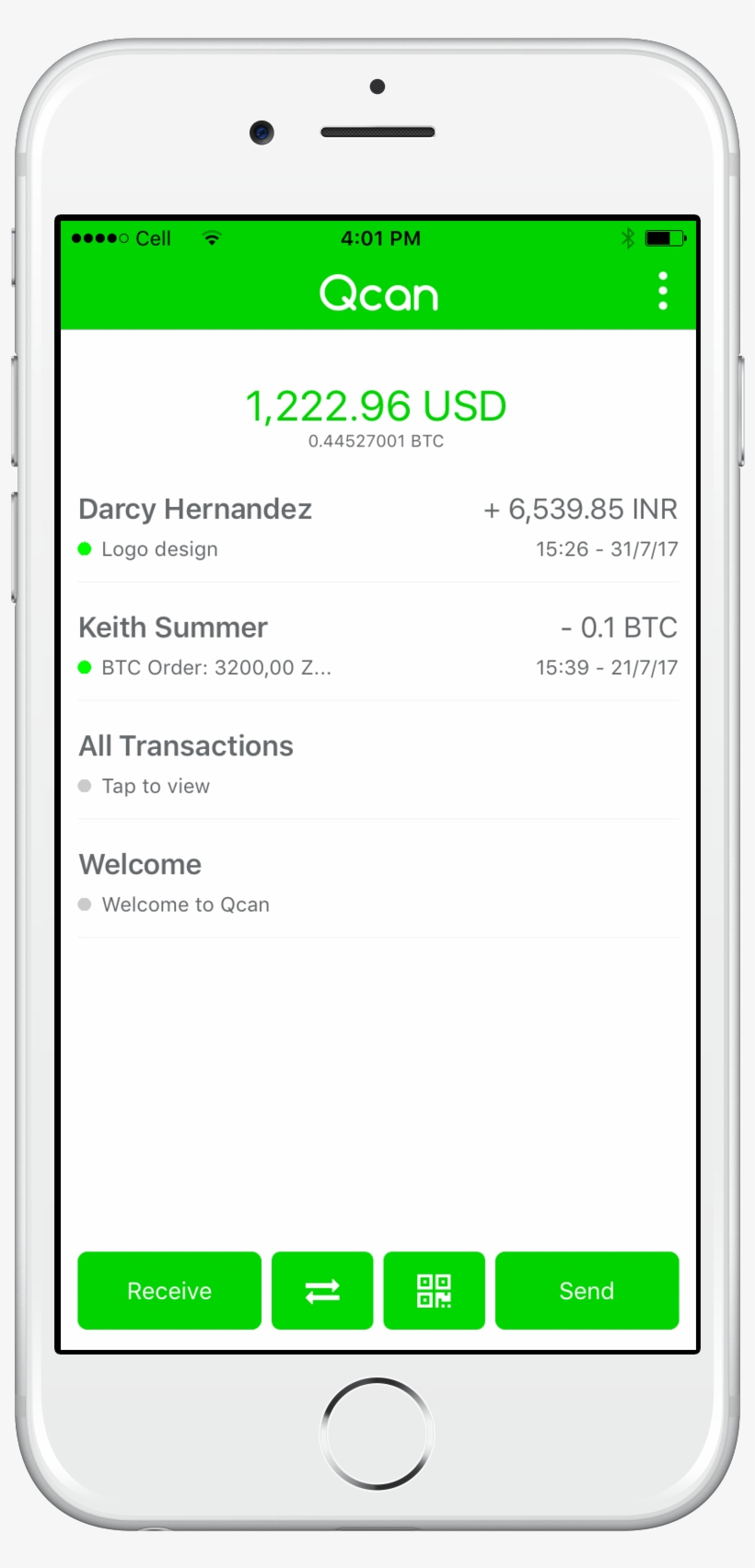 Bitcoin Mobile Wallet - Round Up For Charity App, transparent png #8088426