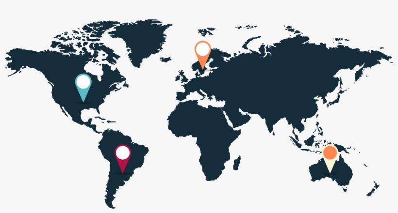 1722 X 842 5 0 - World Map, transparent png #8096551