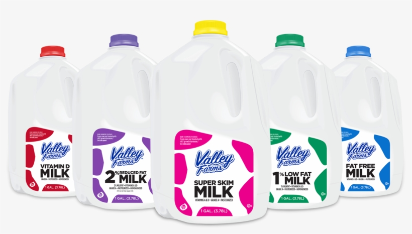 Valley Farms Milk Family Valley Farms Milk Family - Upstate Farms Fat Free Milk, transparent png #8097937