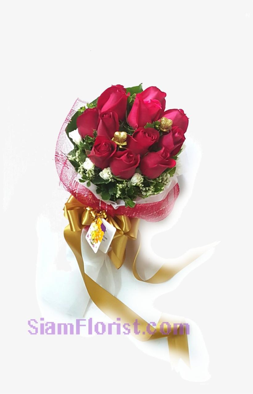 1057 Bouquet Of Roses - Bouquet, transparent png #8098731