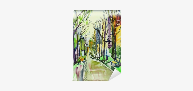 Forrest Drawing Watercolor - Watercolor Painting, transparent png #810239
