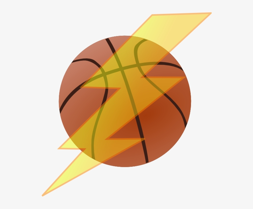 Basketball With Lightning Bolt Clip Art At Clker - Basketball Ball With Lightning, transparent png #811457