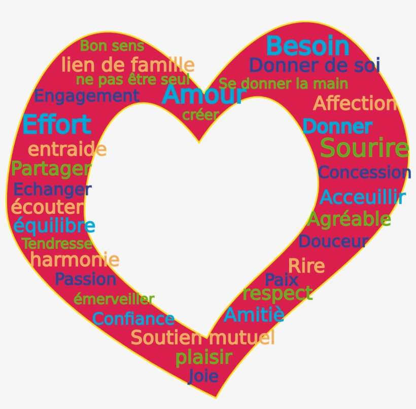 Words Love Coeur 1969px 345 - K For Love Words, transparent png #811561