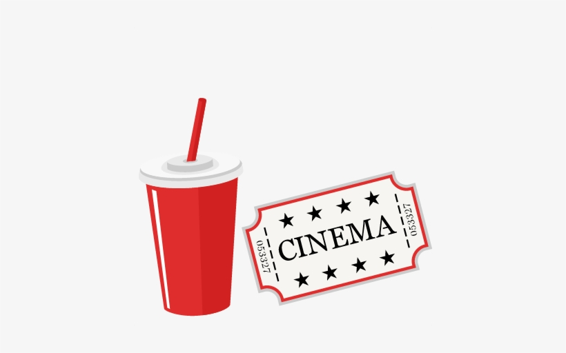 Movie soda. Ticket and svg scrapbook