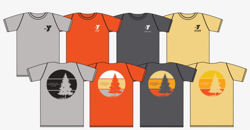 Different Color Staff T Shirts And Camper Custom T - Ymca Summer Camp Shirt, transparent png #814411