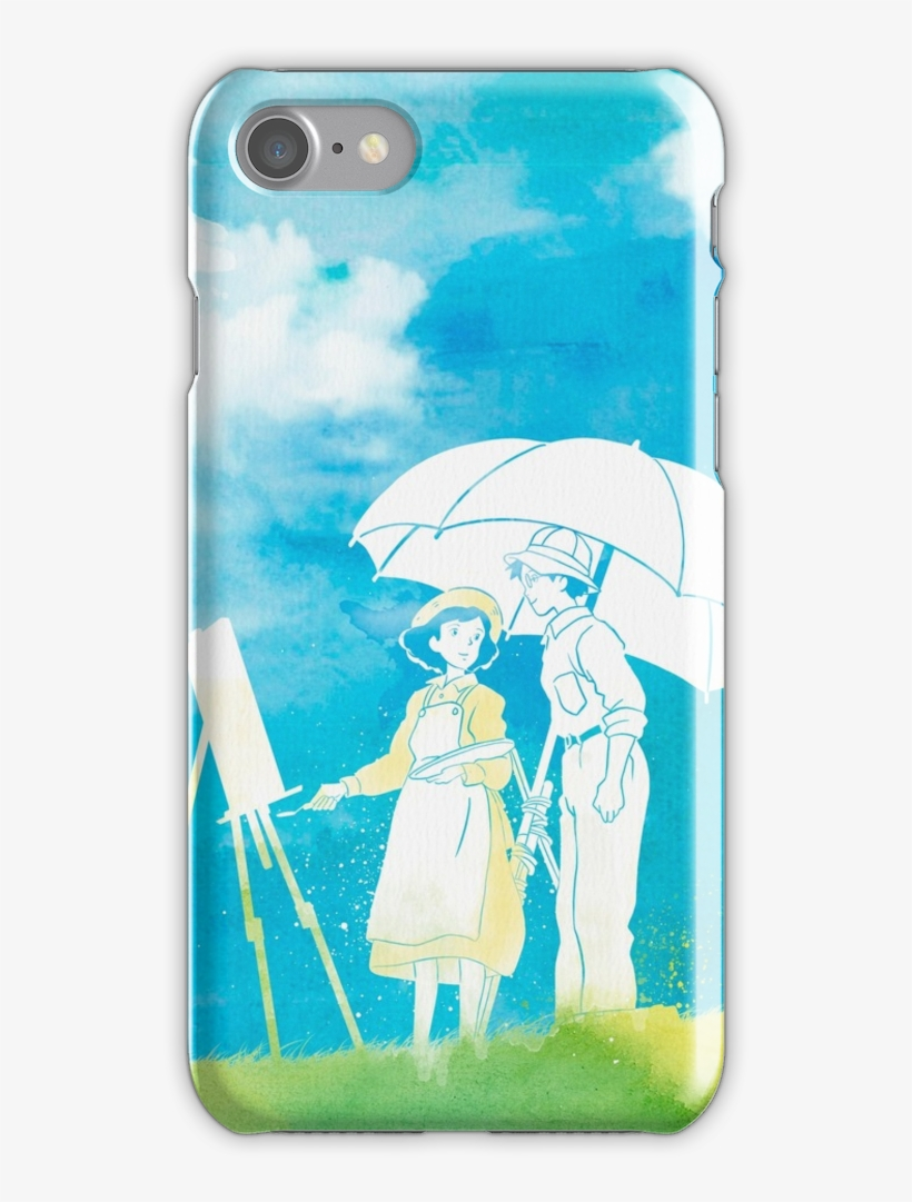 Watercolor Decor Ft The Wind Rises Iphone 7 Snap Case - Studio Ghibli, transparent png #814421