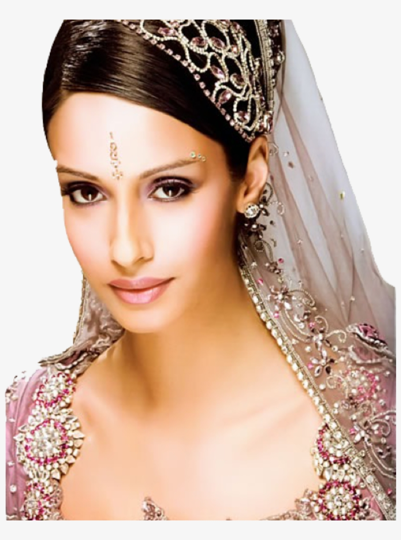 indian wedding hairstyles with veil - indian bridal
