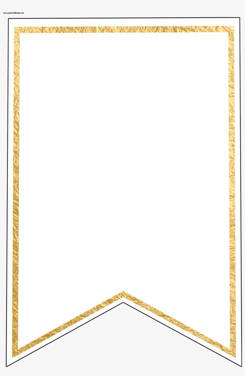 image relating to Pennant Template Printable named Gold Pennant Banner Blank Template Flag Banner Template