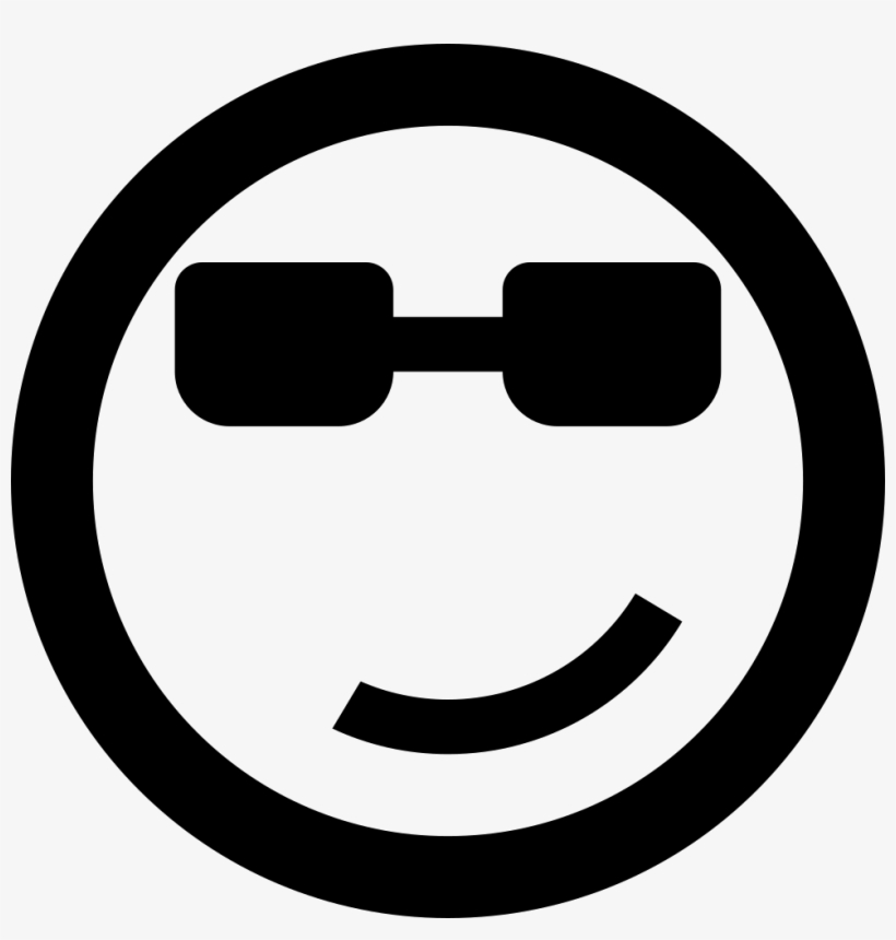 Cool Emoticon Smiley Face - Swag Icon, transparent png #816513