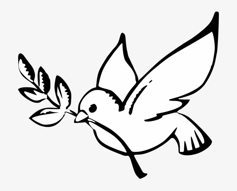 Peace Dove Clipart Black And White - Dove Symbol Of Peace