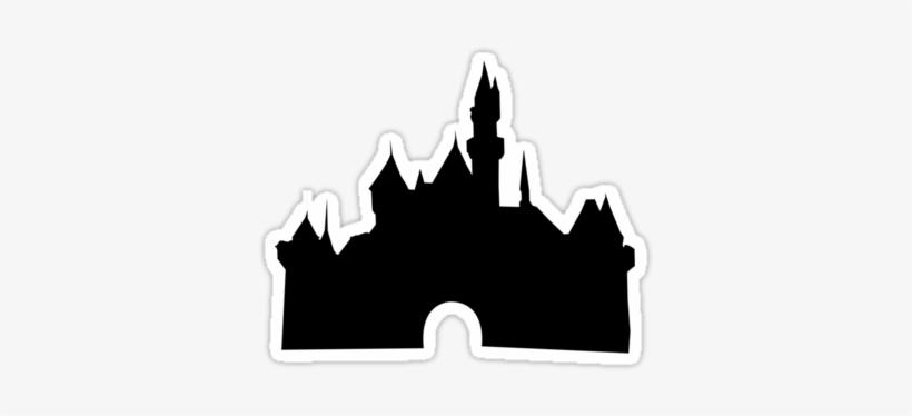 Disney Castle Silhouette Png - Disney Sleeping Beauty Castle Silhouette, transparent png #817319