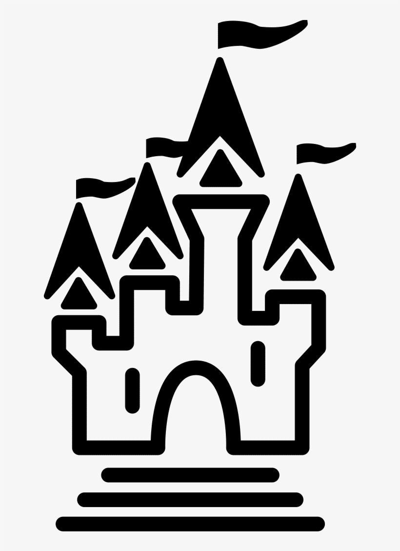 Disney Castle Silhouette Logo Download - Theme Park Icon, transparent png #817595