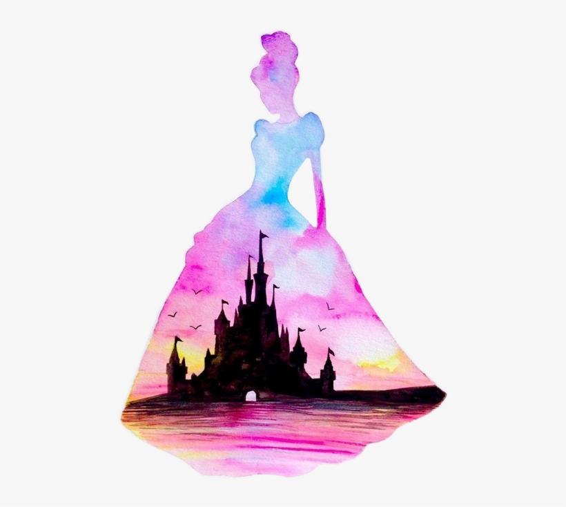 Painting Silhouette Disney Princess Art, transparent png #817659