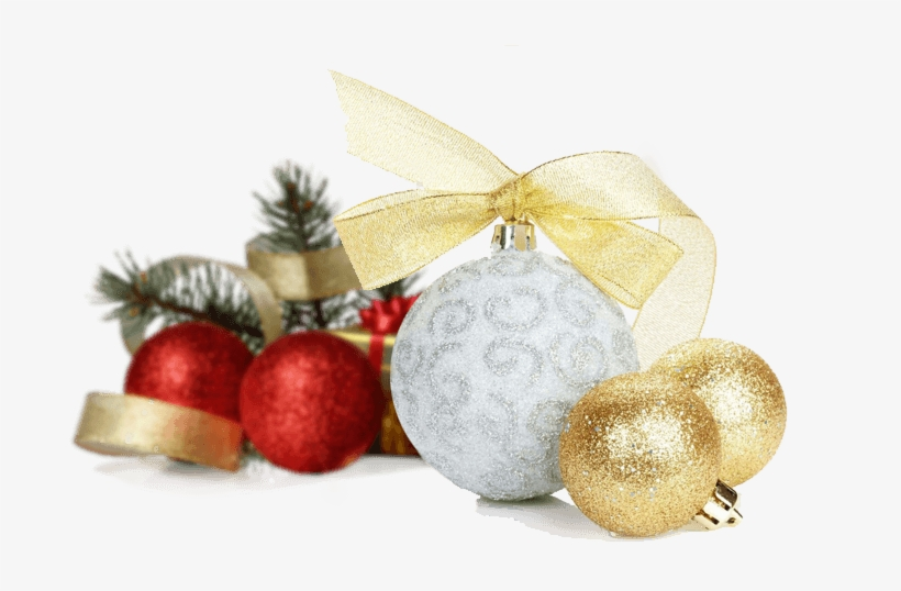 Christmas Decorations - Gold Silver Christmas Ornament Png, transparent png #818302