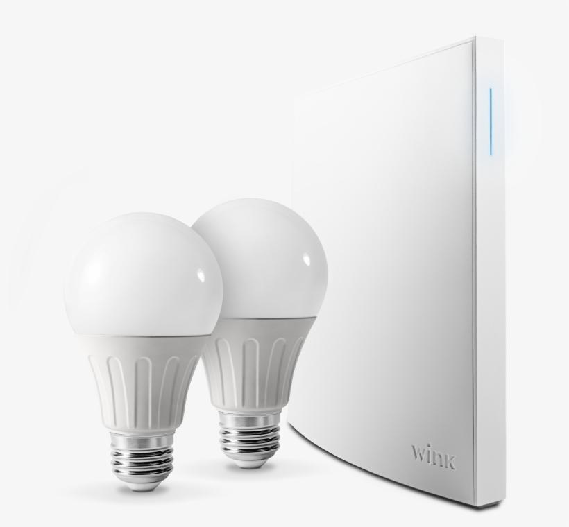 Wink Bright Smart Lighting Kit, Hub Included - Incandescent Light Bulb, transparent png #818592
