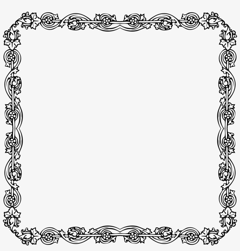 Source - Openclipart - Org - Report - Victorian Border - Border For A Paper, transparent png #818667