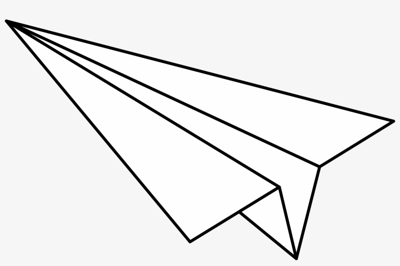 Banner Transparent Big Image - Paper Airplane Clipart Black And White, transparent png #819157