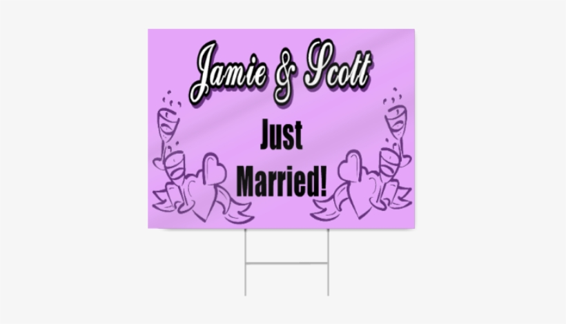 Just Married Sign - Just Married Sign Images Png Purple, transparent png #819764