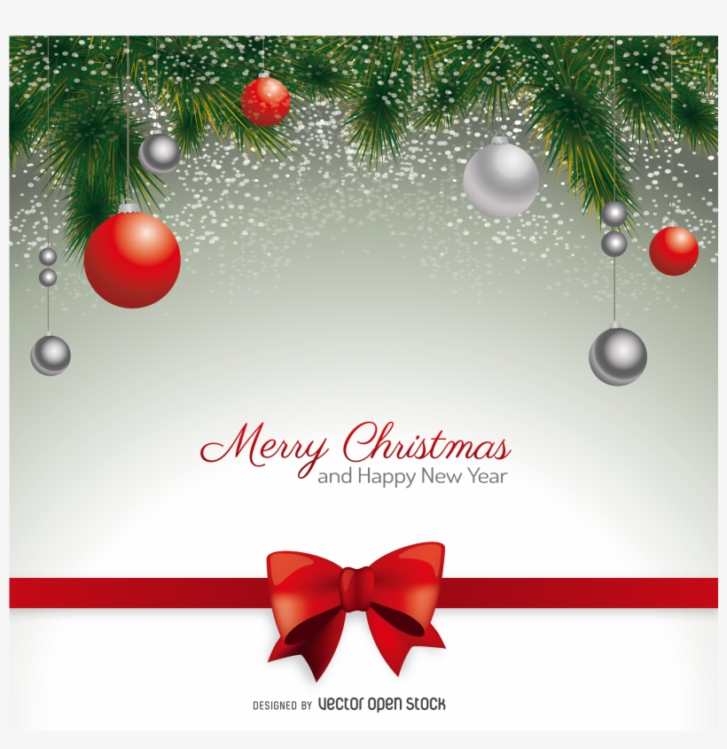 Card Santa Claus Wedding Invitation Vector Greeting - Christmas Greetings Vector Png, transparent png #8103403
