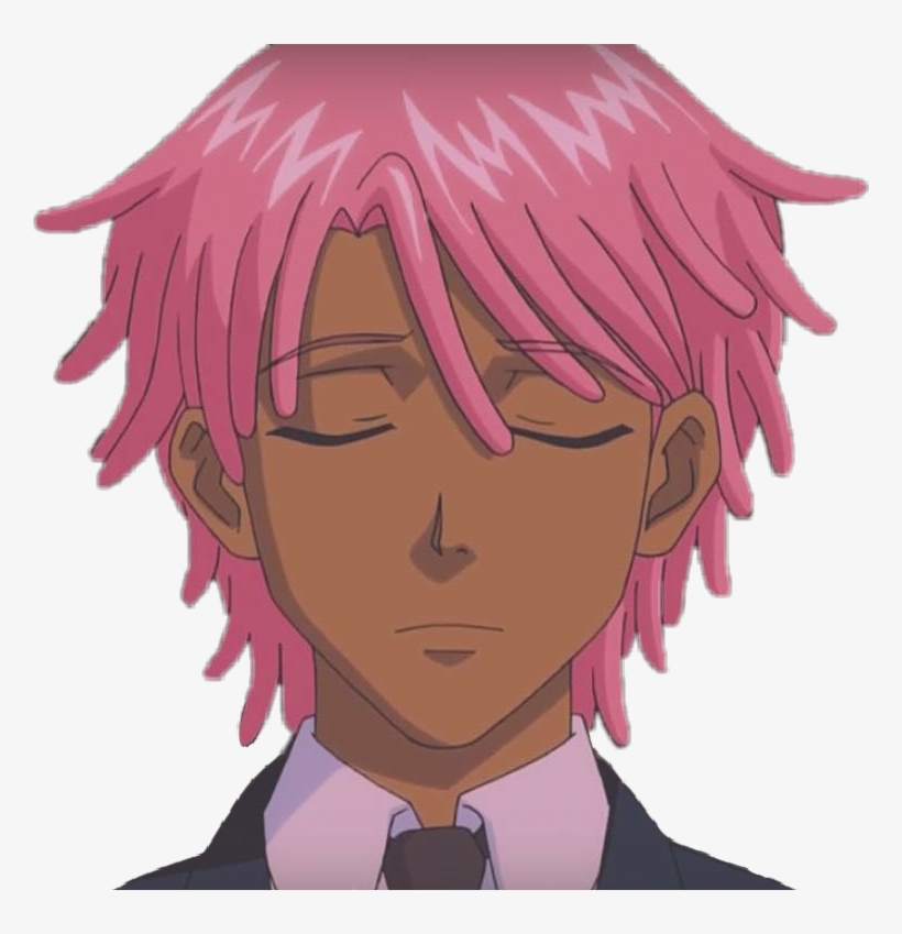 Pink Hair Anime Boy - Anime Boy With Pink Hair, transparent png #8105535