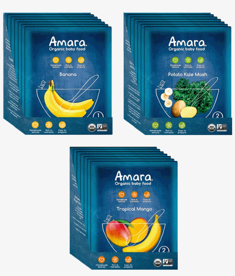 Variety Pack Introduction To Solids - Amara Baby Food, transparent png #8110299