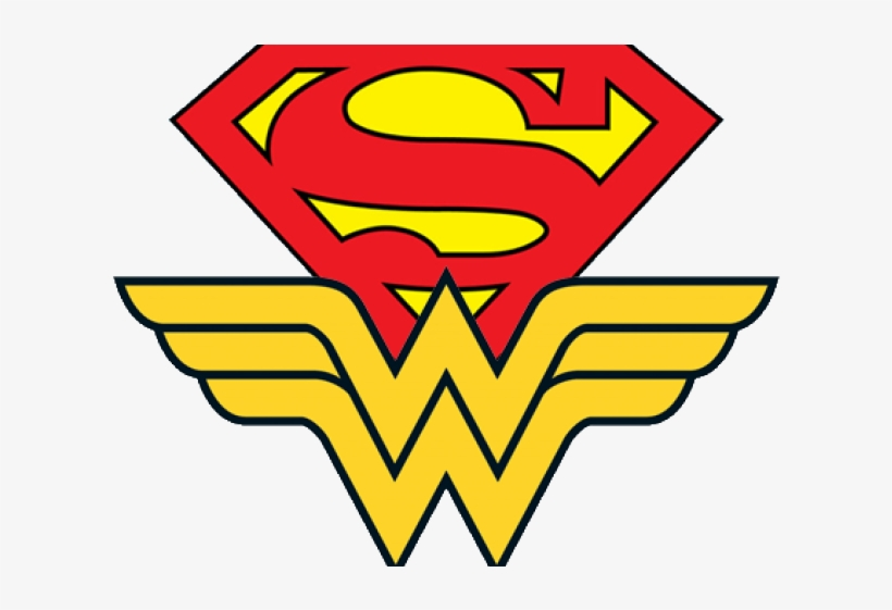 Drawn Superman Superwoman - Wonder Woman Supergirl Logo, transparent png #8115988