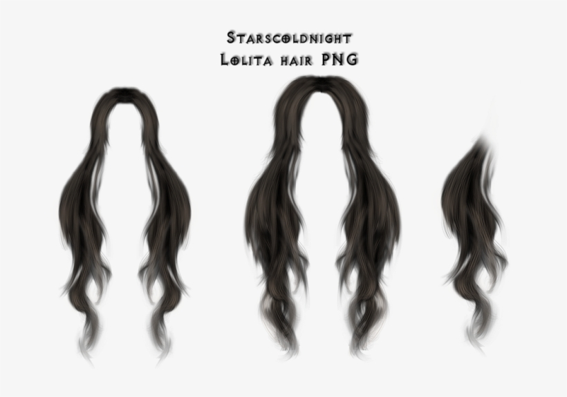 Hair Strands Png - Anime Long Hair Png, transparent png #8121684