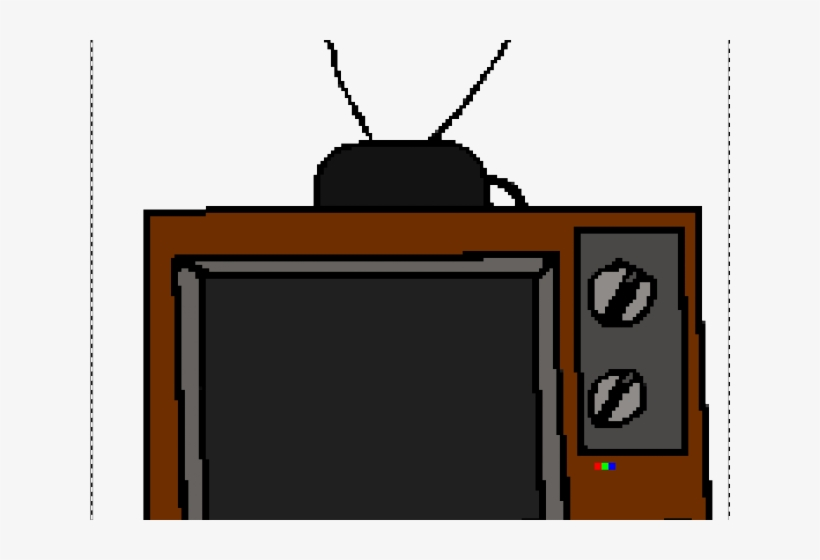 Television Clipart Old School - Old School Tv Cartoon, transparent png #8127643