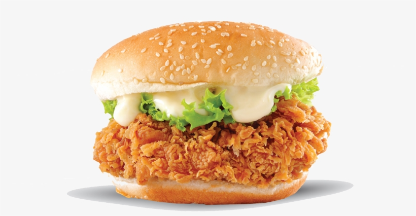Crispy Burger - Fried Chicken Sandwich Png, transparent png #8134770